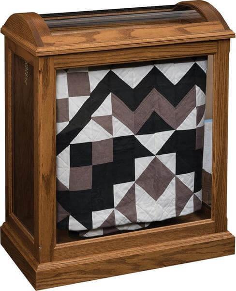 Amish Medium Quilt Curio with Enclosed Base