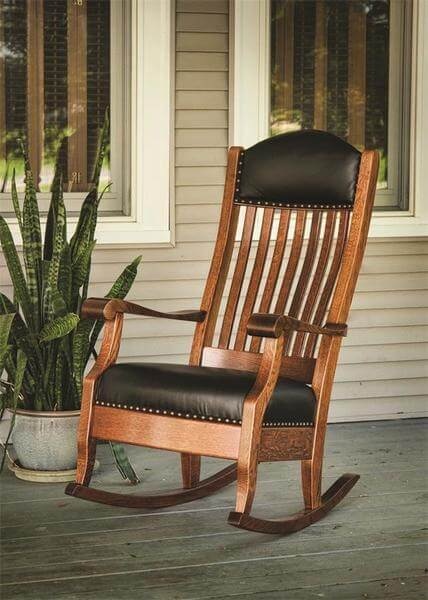 Amish Upholstered Auntie's Rocker