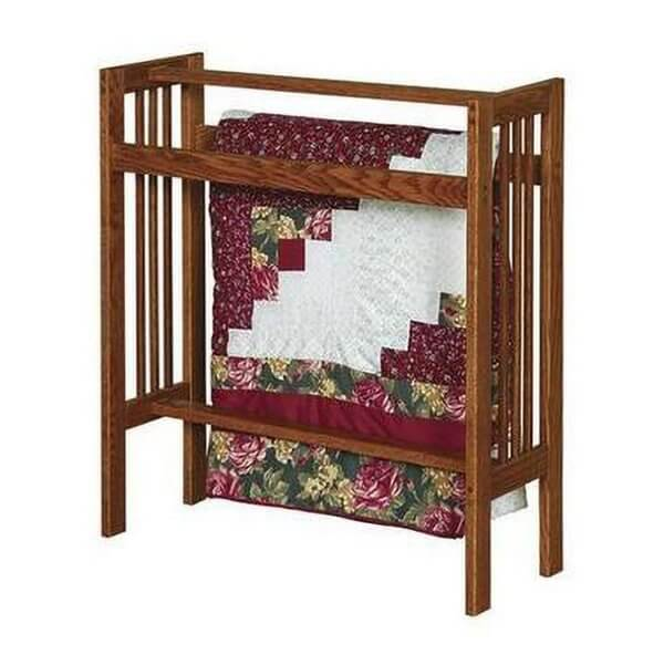 Solid Wood Arts and Crafts Quilt Rack