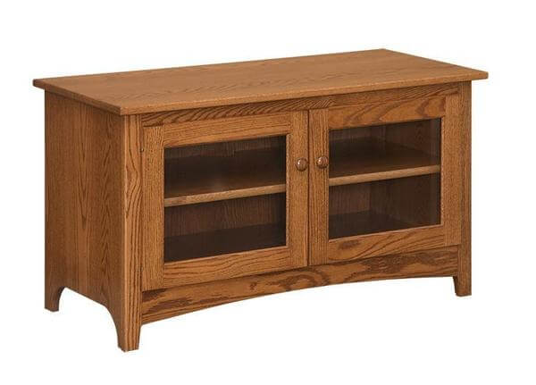Amish 46 Shaker TV Stand with Two Doors