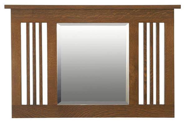 Amish Hardwood Landmark Small Mission Mirror