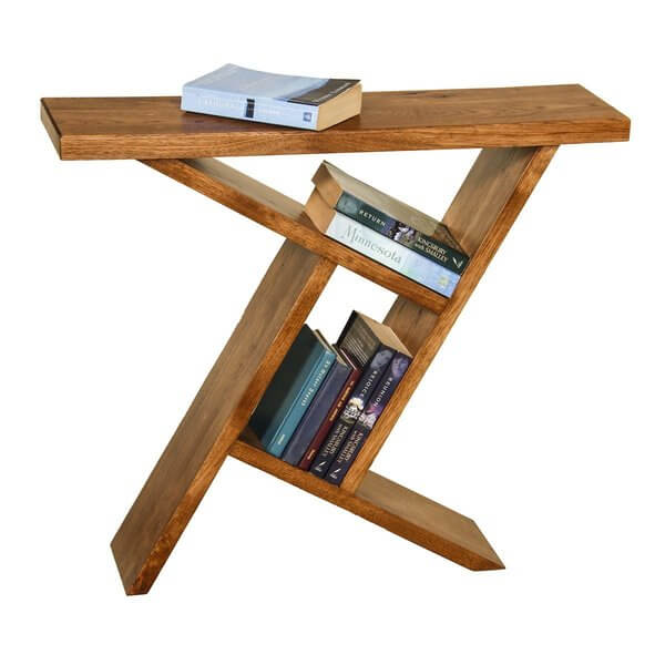 Amish Slant Console Table