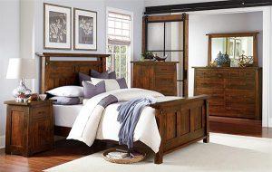 Encada Rustic Cherry Bedroom Suite