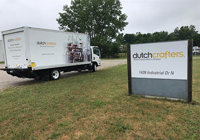 DutchCrafters truck and warehouse sign