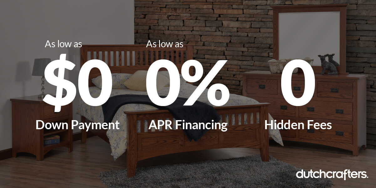 Amish Furniture Financing with Affirm, from DutchCrafters