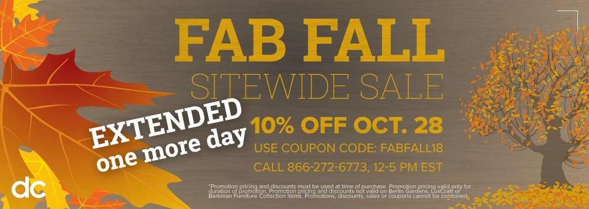 Fall Extended Sale