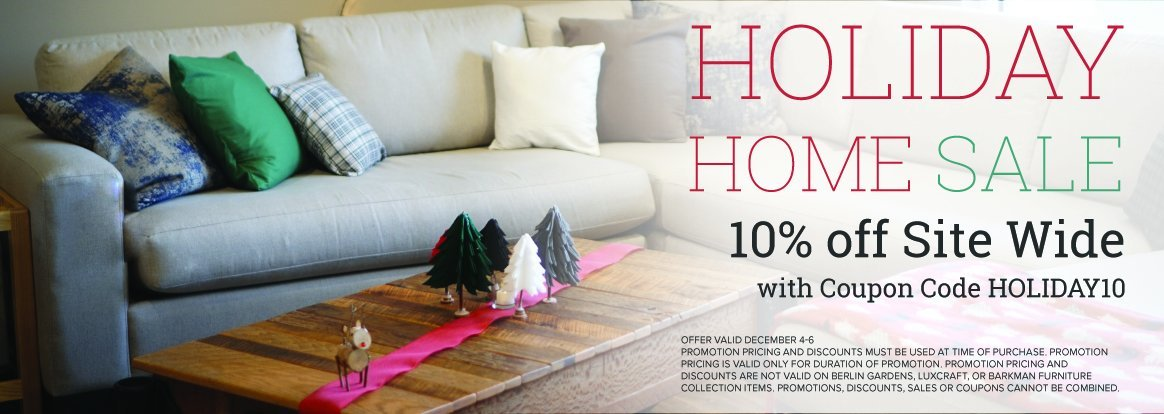 Holiday Home Sitewide Sale