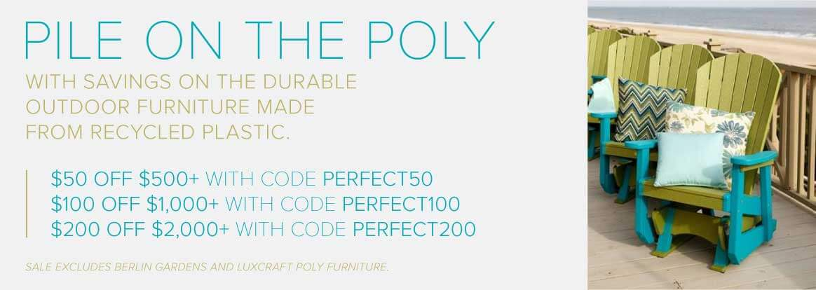 Poly Outdoor Furniture Sale