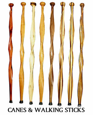 Wooden Canes & Walking Sticks