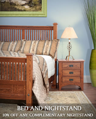 Bed and Nightstand Companion Deal