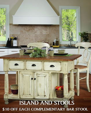 Island and Stools Kitchen Set Savings