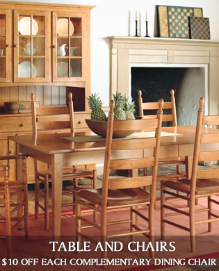 Amish Furniture by DutchCrafters - Kitchen Table Styles Through The Decades