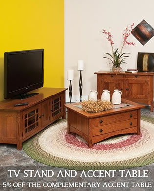 TV Stand and Accent Table Companion Deal