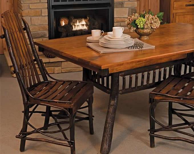 Rustic furniture style dining room