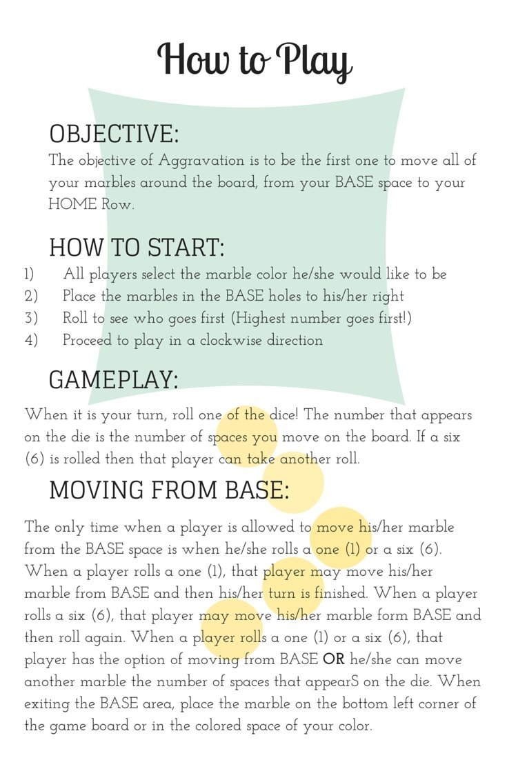 how to play the classic game aggravation 2