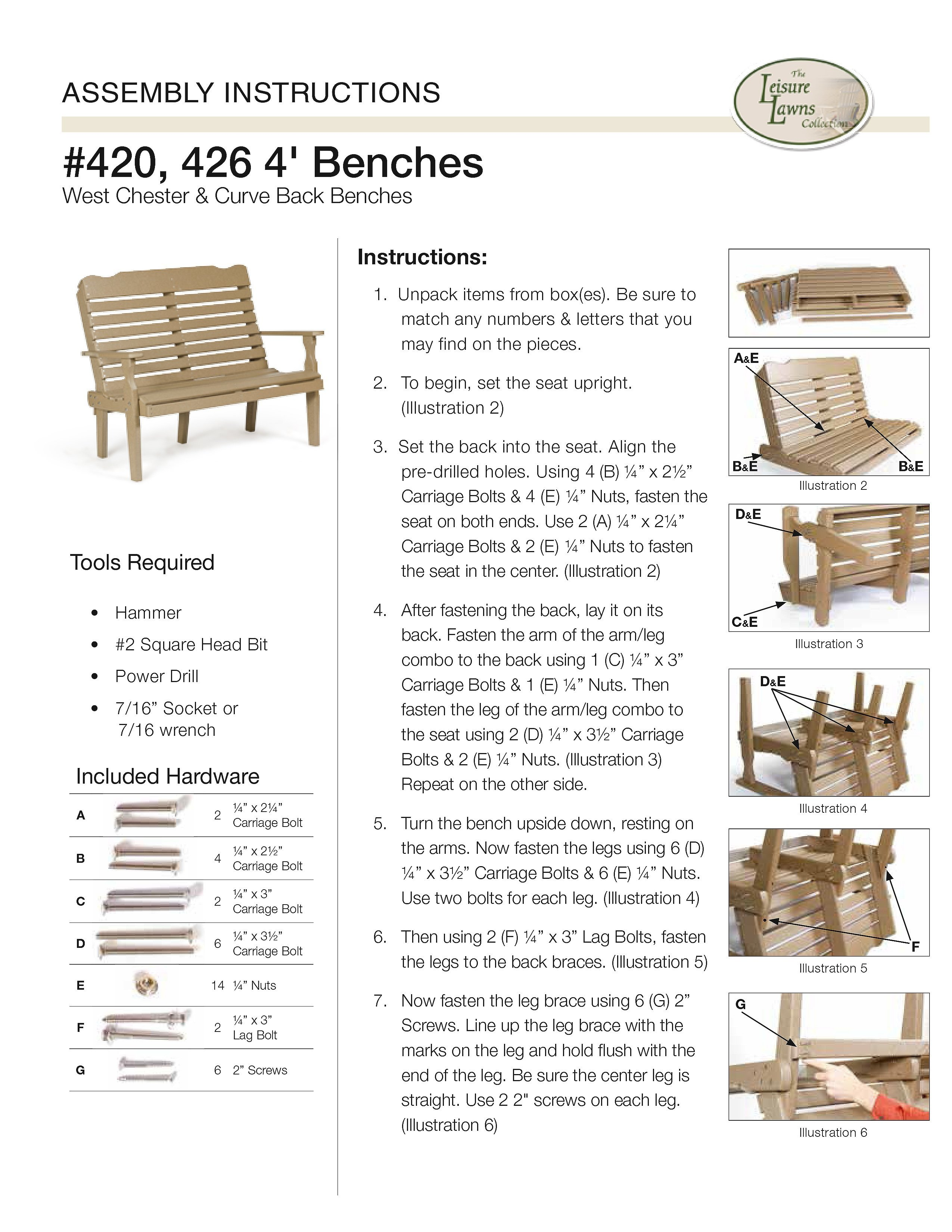 How To Instructions   Assembling The American Patriot Bench Standard  Features Amish Made Outdoor Furniture