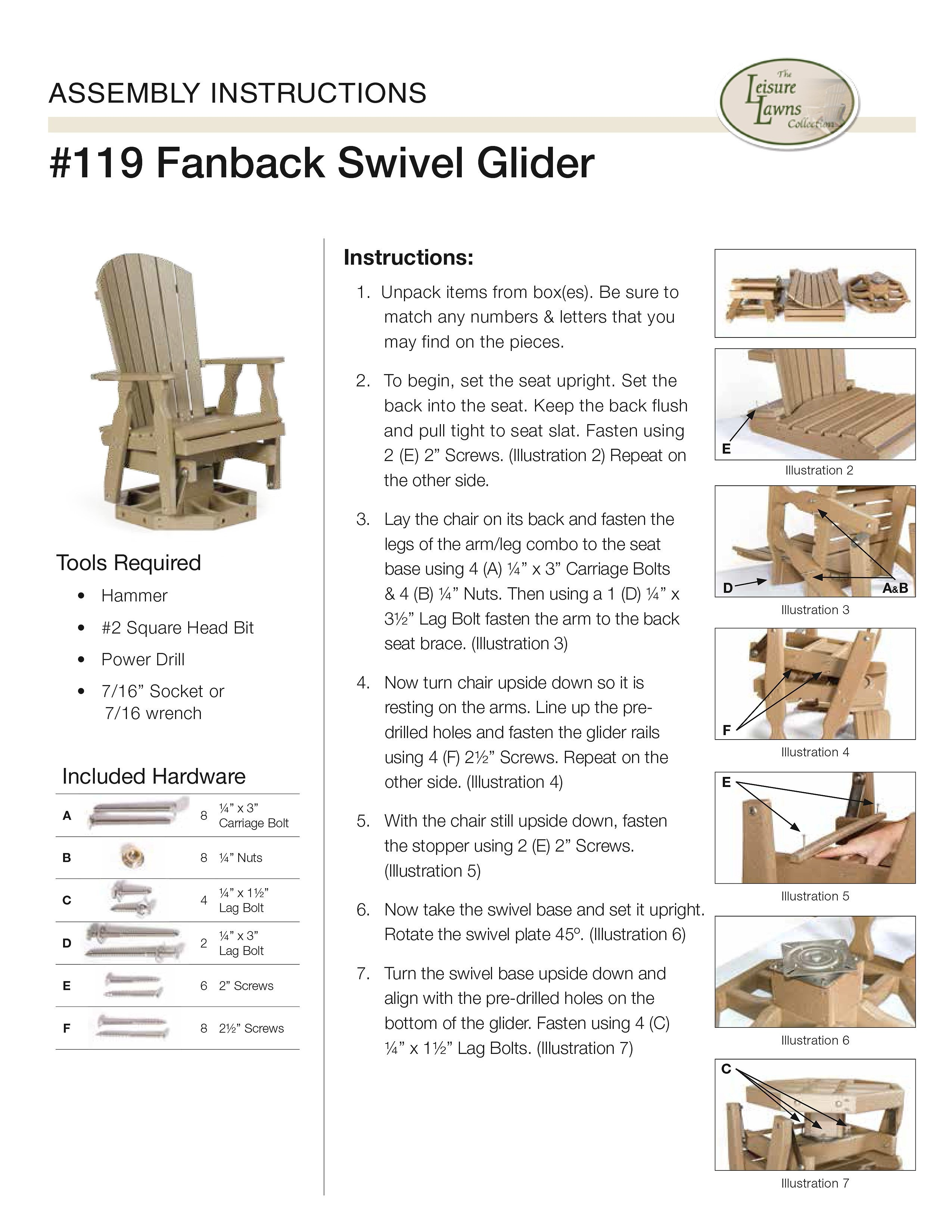 Amish Glider from DutchCrafters Amish Furniture
