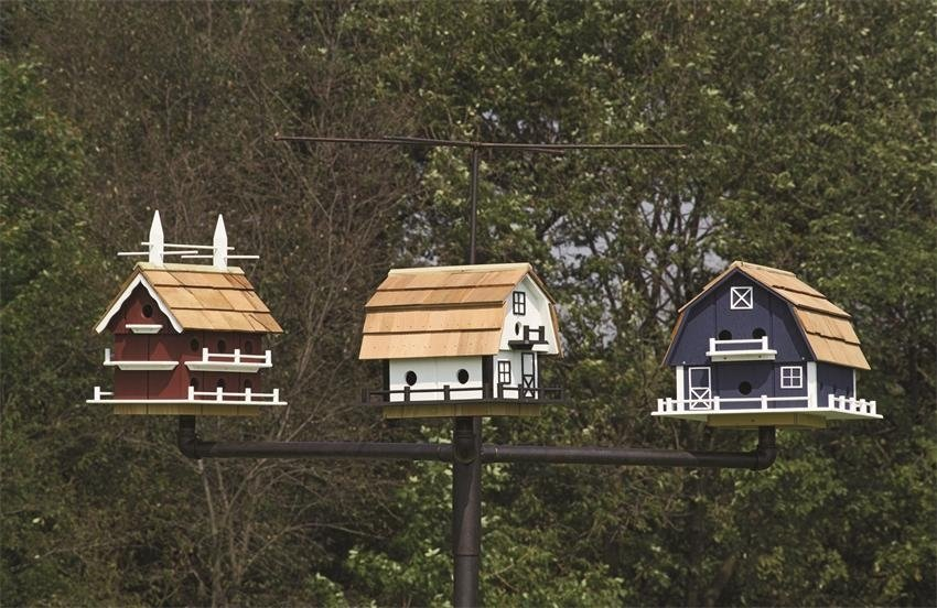 Amish made bird houses for Martin house designs