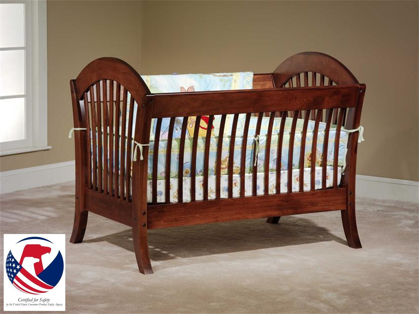 pine usa baby cradle furniture bassinets hand wood crib victorian spindle doll cradles made c wooden unfinished cribs nursery