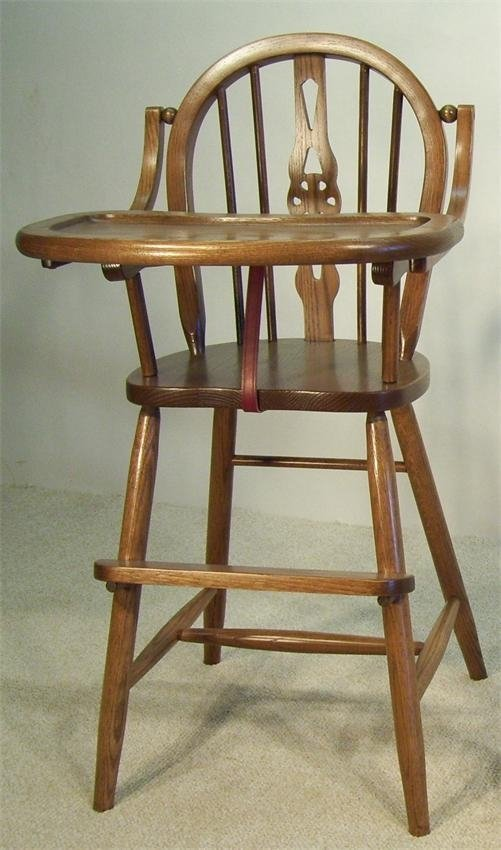 Amish solid wood high chair