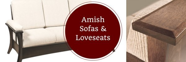 Amish sofas, loveseats, and reclining loveseats