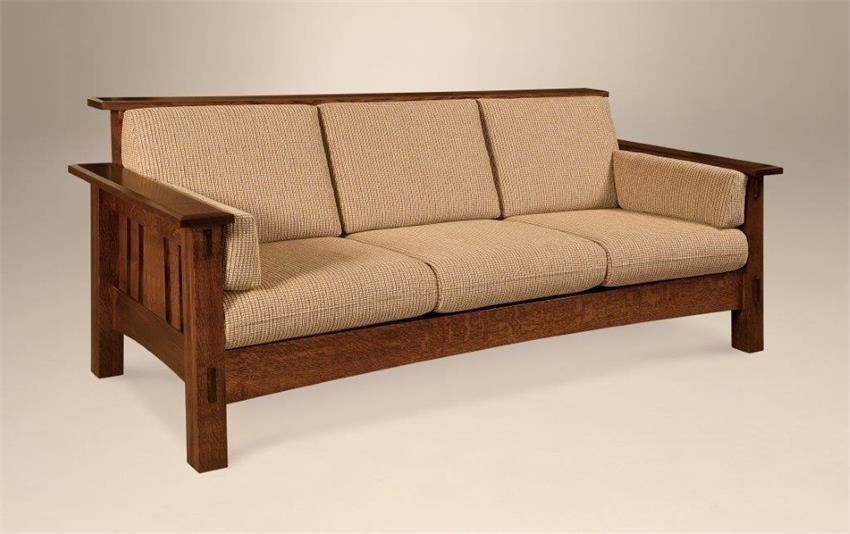 Solid wood Amish sofa