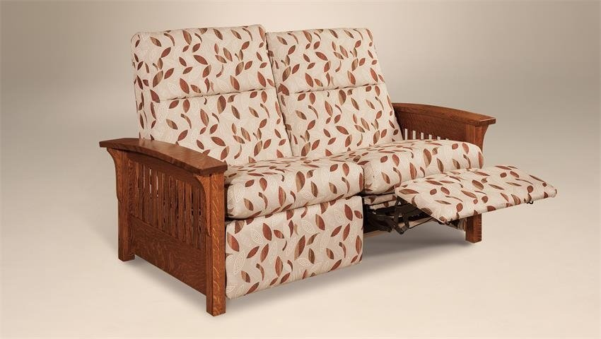 Reclining loveseat with custom upholstery