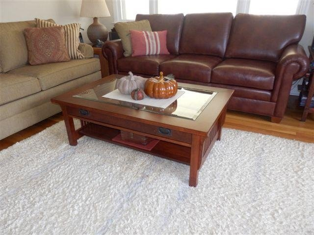 Mission-style solid wood coffee table