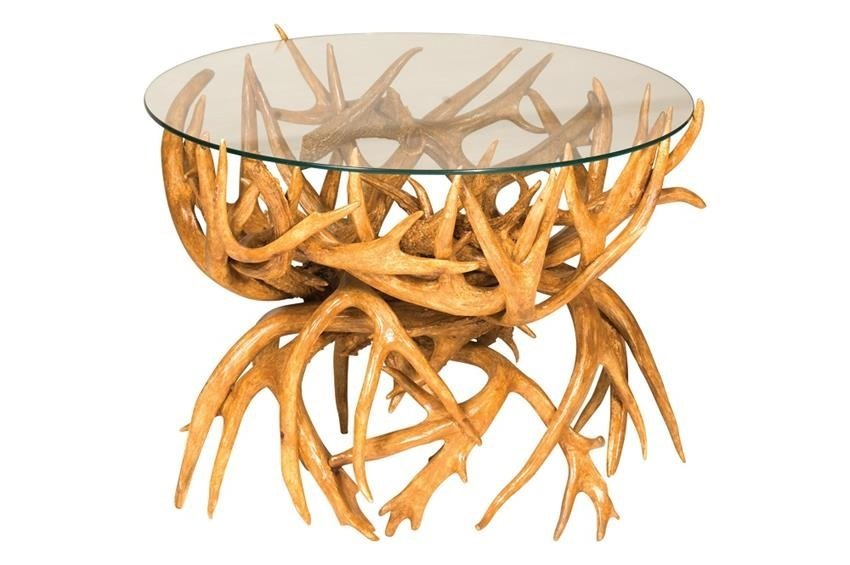 antler end table