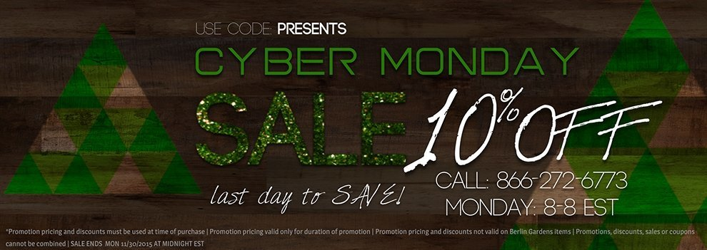 Cyber Monday Outdoor Furniture Sale