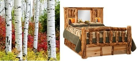 Aspen Log Cabin Bed with Bookcase Headboard