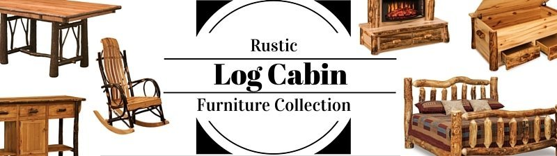 American Made Amish Rustic Log Cabin Furniture