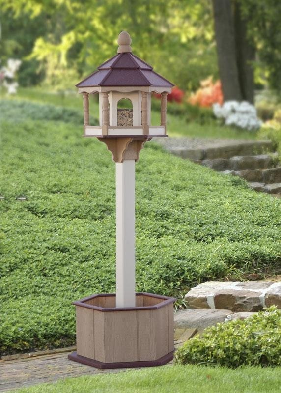 hexagon bird feeder, poly bird feeder