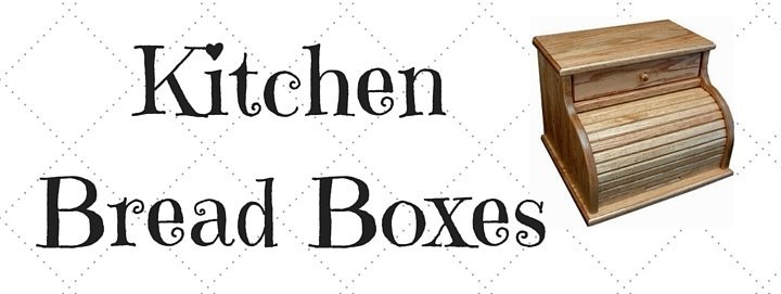 Amish Solid Wood Kitchen Bread Boxes