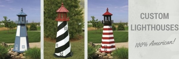 decorative outdoor lighthouses