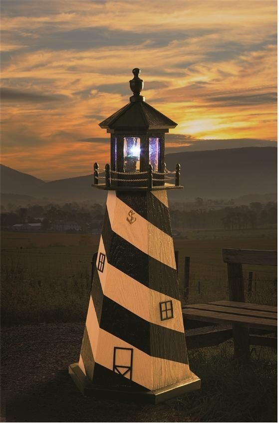 amish-made garden lighthouse