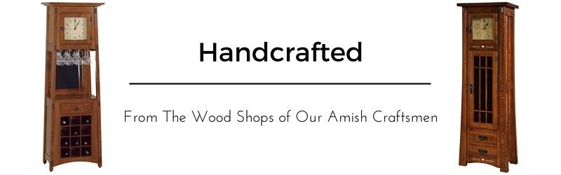 Amish Handcrafted Clocks from DutchCrafters Amish Furniture