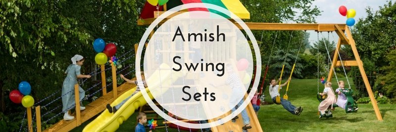 amish swing sets