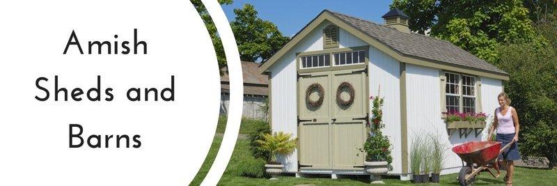 amish sheds, amish barns