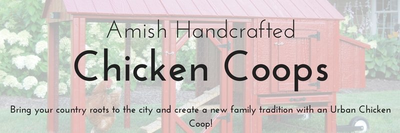 Amish handcrafted chicken coops, Bring your country roots to the city and create a new family tradition with an urban chicken coop