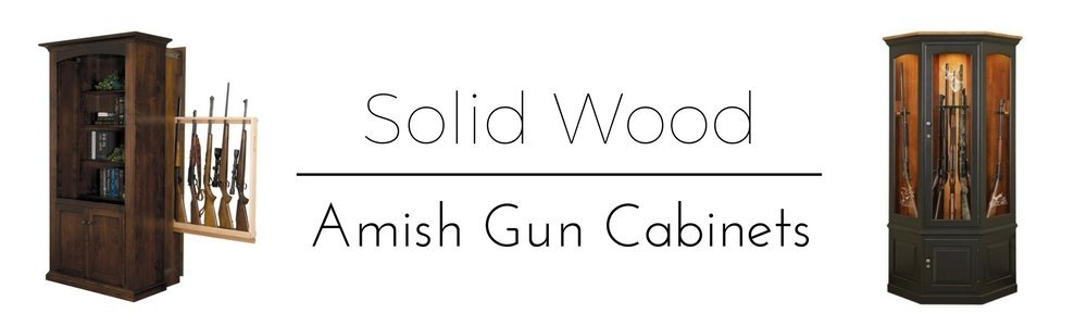 Store your firearms in style with one of our handcrafted wooden gun cabinets from DutchCrafters Amish Furniture.