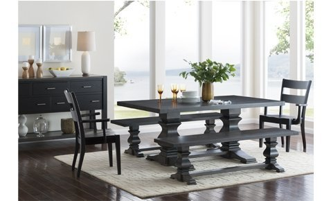 Amish Dining Table, Solid Wood Table handcrafted in America