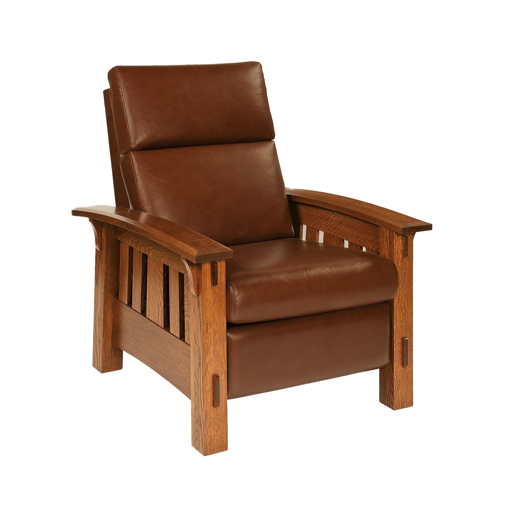 upholstered leather recliner, lounge chair