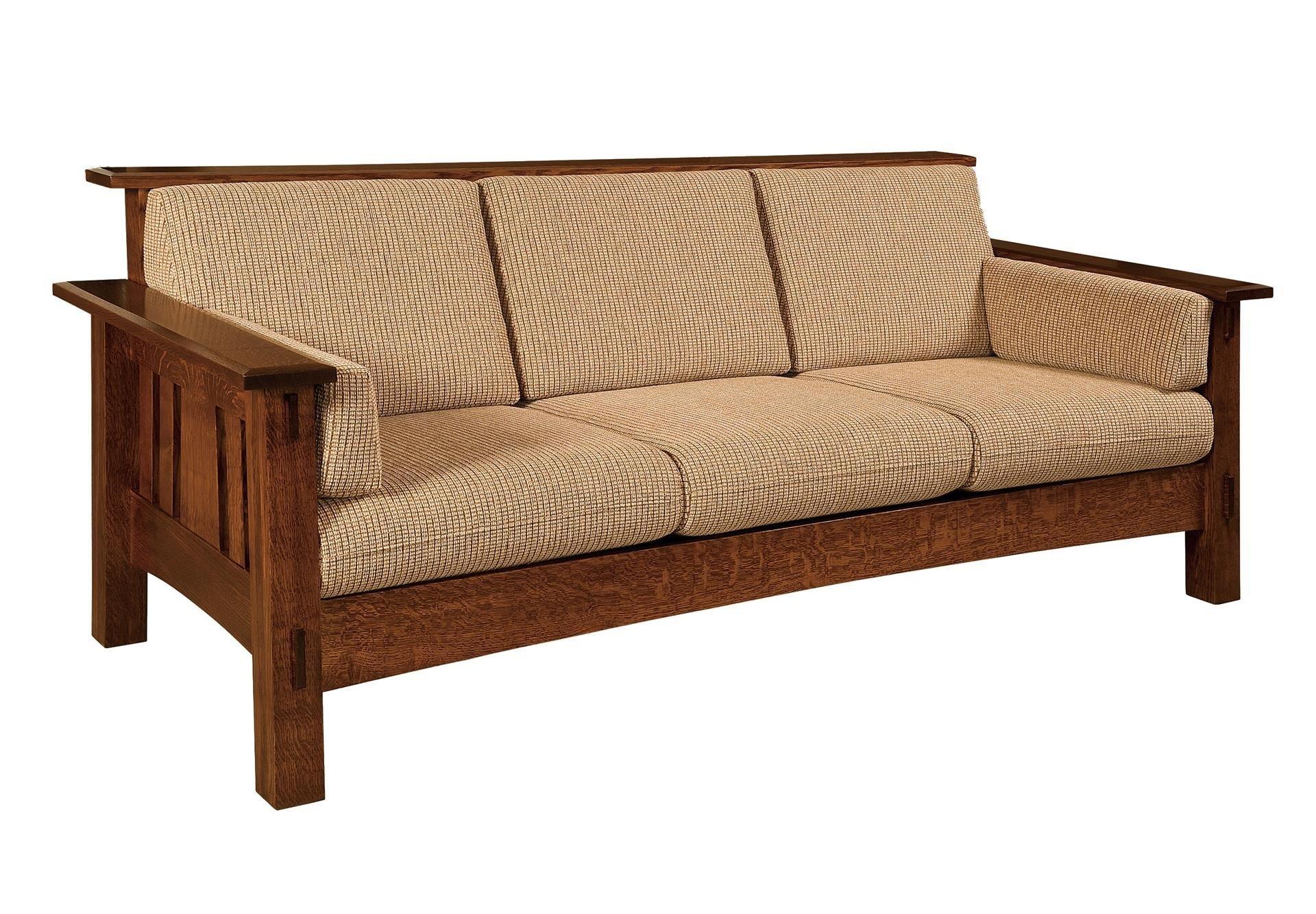 Solid wood Amish sofa