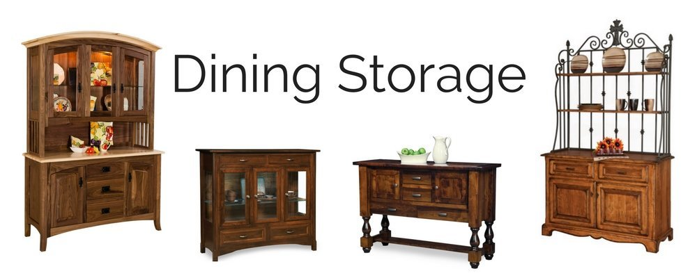 Amish Dining Storage - China Cabinets, Dining Buffets, & Corner Hutches