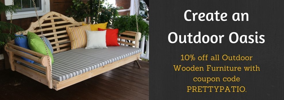 all outdoor wooden furniture on sale, 10% off with coupon code, hurry sale ends soon