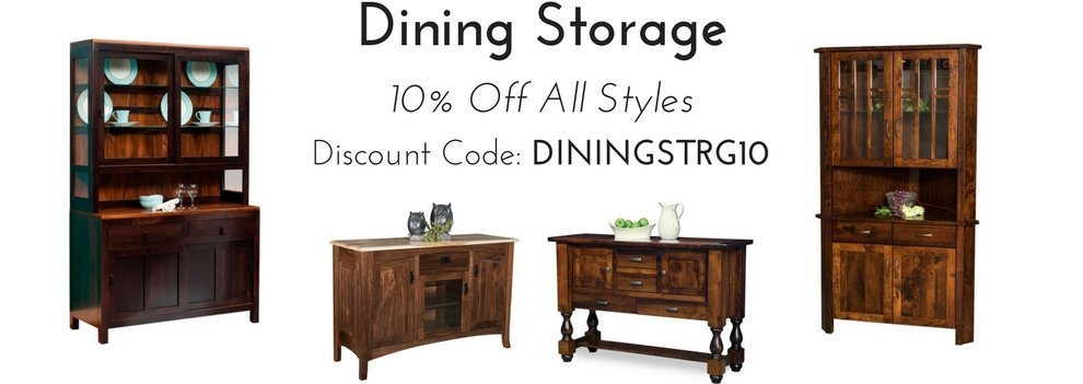 Dining Storage Sale - 10% Off All Styles