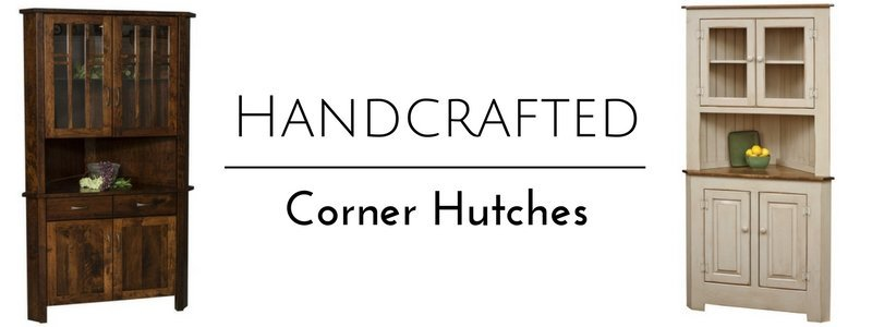 Handcrafted American Made Corner Hutches From DutchCrafters Amish Furniture
