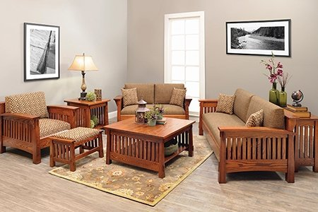 Oak Furniture in the Countryside Mission Living Room Set  Oak Furniture. Mission Living Room Furniture. Home Design Ideas