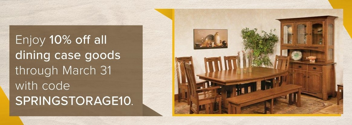 10% off all Dining Hutches & Buffets this Spring with Discount Code SPRINGSTORAGE10